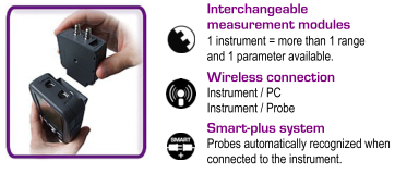 E Instruments AQ200CO Features Interchangeable Measurement Modules, Wireless Connections And The Smart Plus Probe Recognition System