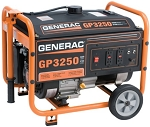 Generac GP3250 GP 3250 5789 Portable Power Generator 3.25 kW CARB