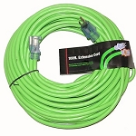Greentech Power Extension Cord Custom Printed 100 Foot 12 Gauge Green