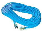 Greentech Power Extension Cord Custom Printed 100 Foot 12 Gauge Light Blue