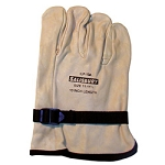 Salisbury Honeywell ILP10A Leather Protector Glove Import Cowhide 10 Inch With Pull Strap