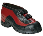 Salisbury 51509 13 Size 13 Black And Red Rubber 2-Buckle Overshoes With Anti-Skid Bar Tread Outsole