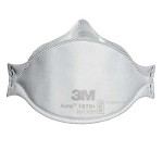 3M Aura Health Care Particulate Respirator & Surgical Mask 1870+, N95, 20/PK