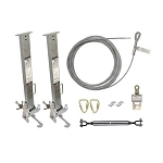 Falltech  60310012 Temporary Cable HLL System with Stanchions for 4