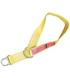 MSA 10023490 Anchorage Connector Strap, Yellow Nylon, Double D-ring, 5'