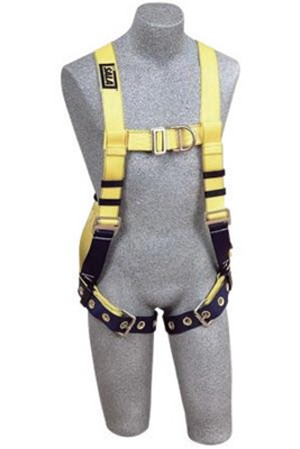 DBI/SALA 1107802 Medium Delta No-Tangle Construction/Vest Style Harness With Back, Side And Front D-Ring, Tongue Leg Strap Buckle And Belt With Pad
