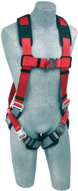 DBI/SALA 1191253 Medium/Large Protecta PRO Full Body/Vest Style Harness With Back D-Ring, Quick Connect Chest And Leg Strap Buckle And Comfort Padding