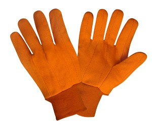 Cordova 2800CD Canvas, Knit Wrist, Corded, Double Palm, Hi-Vis Orange