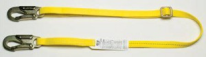 MSA 505211 Web Restraint Lanyard, 6', Polyester, Fixed length, 36C steel snaphook & Web Loop, CSA Z259