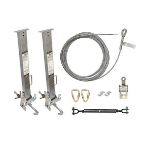 "Falltech  6036024 Temporary Cable HLL System with Stanchions for 4"" to 24"" I-Beams"