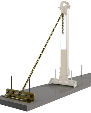 DBI/SALA 7400214 SecuraSpan Rebar/Shear Stud HLL Tie-Back Base with Chain
