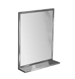 "Bradley 7805-024362 Mirror, Angle Frame, 24"" x 36"", Shelf"