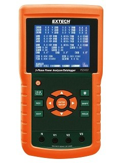 Extech PQ3450-12 PQ 3450 12 3 Phase Power Quality Analyzer Datalogger