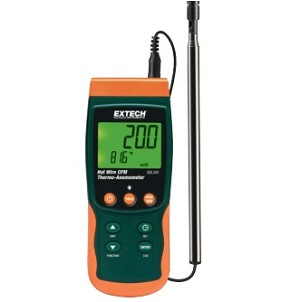 Extech SDL350 SDL 350 Hot Wire CFM Thermo Anemometer Datalogger