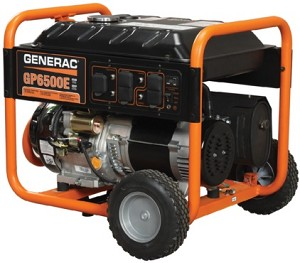 Generac GP6500E GP 6500 E 5941 Portable Power Generator 6.5 kW