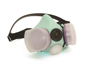 Honeywell B210070 Blue 1H Half Mask Respirator Small Light Green