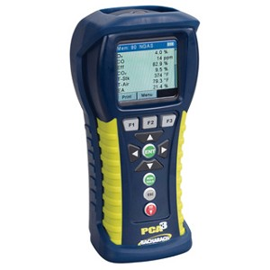 Bacharach 24-8445 PCA 3 PCA3 275 Combustion Analyzer (with O2, CO/H2-compensated, NO, SO2 measurement)