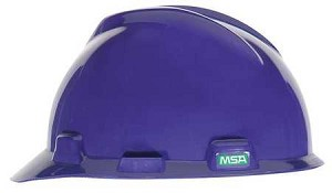 MSA 488398 Hard Hat, Front Brim, Purple