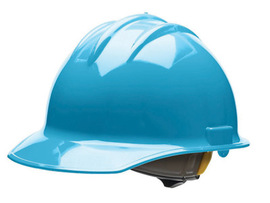 Bullard 30SKR  Sky Blue Classic Series C30 HDPE Cap Style Hard Hat With 6 Point Ratchet Suspension, Accessory Slots And Absorbent Polyester Brow Pad