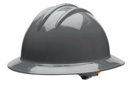 Bullard 33DGP  Dove Gray Classic Series C33 HDPE Full Brim Hard Hat With 6 Point Pinlock Suspension, Accessory Slots And Absorbent Polyester Brow Pad