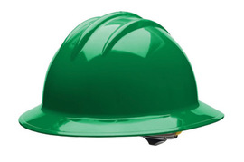 Bullard 33KGP  Kelly Green Classic Series C33 HDPE Full Brim Hard Hat With 6 Point Pinlock Suspension, Accessory Slots And Absorbent Polyester Brow Pad