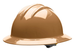 Bullard 33TNP  Tan Classic Series C33 HDPE Full Brim Hard Hat With 6 Point Pinlock Suspension, Accessory Slots And Absorbent Polyester Brow Pad