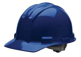 Bullard 51NBP  Navy Blue Standard S51 HDPE Cap Style Hard Hat With 4 Point Pinlock Suspension, Accessory Slots And Absorbent Polyester Brow Pad