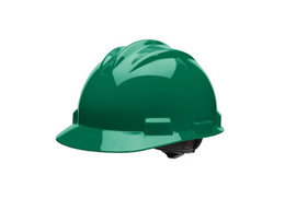 Bullard 61FGP  Forest Green Standard S61 HDPE Cap Style Hard Hat With 4 Point Ratchet Suspension, Accessory Slots And Absorbent Polyester Brow Pad