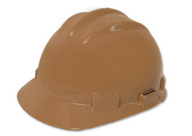 Bullard 61TNP  Tan Standard S61 HDPE Cap Style Hard Hat With 4 Point Pinlock Suspension, Accessory Slots And Absorbent Polyester Brow Pad