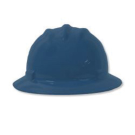 Bullard 71KBP  Kentucky Blue Standard S71 HDPE Full Brim Hard Hat With 4 Point Pinlock Suspension, Accessory Slots And Absorbent Polyester Brow Pad