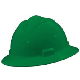 Bullard 71KGP  Kelly Green Standard S71 HDPE Full Brim Hard Hat With 4 Point Pinlock Suspension, Accessory Slots And Absorbent Polyester Brow Pad