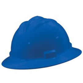 Bullard 71PBR  Blue Standard S71 HDPE Full Brim Hard Hat With 4 Point Ratchet Suspension, Accessory Slots And Absorbent Polyester Brow Pad