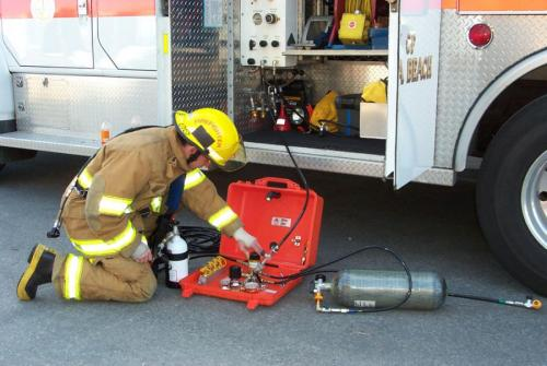 Air Systems' MACK 2 is Ideal for Emergency Refilling SCBA Cylinders From Aerial Command Stations.