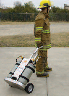 Air Systems Tech-Rescue Cart Can Supply Breathing Air To Respirators And Rescue Tools.