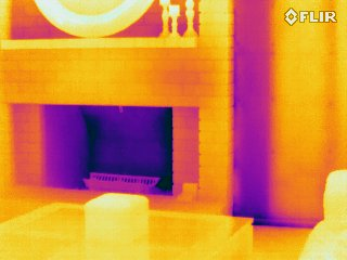 Fireplace - FLIR T440 Infrared Image