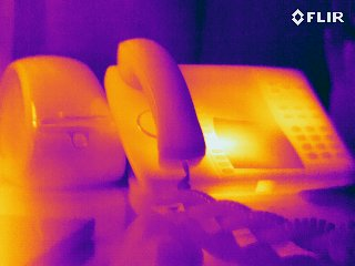 Phone - FLIR T440 Infrared Image