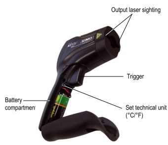 The Kimo KIRAY 100 IR Thermometer Is Ergonomically Designed
