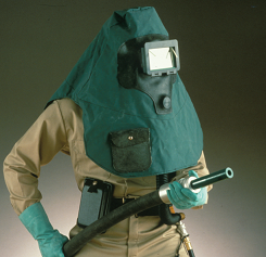 MSA Safety 486303 Abrasi-Blast Hood Provides Upper Body Protection During Abrasive Blasting