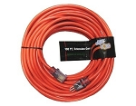 Greentech Power Extension Cord Custom Printed 100 Foot 12 Gauge Orange