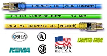 100 Foot Extension Cord With Lighted Ends And Custom Printing