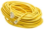 Greentech Power Extension Cord Custom Printed 100 Foot 12 Gauge Yellow