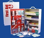 Rapid Care 4 Shelf OSHA ANSI First Aid Kit Construction Industrial