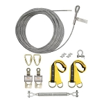Falltech  60280A SteelGrip Temporary Cable HLL System with Pass-through Anchors