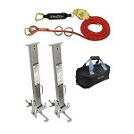 Falltech  6036018KM Kernmantle Rope HLL System with Stanchions for 18