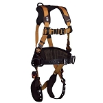 Falltech 7081BRXL Advanced ComforTech Gel Harness Construction Belted 3 D-rings Harness