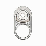MSA 10144951 5K MEGA Swivel D-ring Stainless Steel