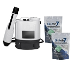 Sanifog SF500ES Electrostatic Disinfectant Backpack Sprayer 50% Off with Biotab7 Tablets