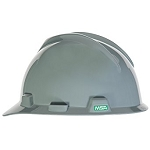 MSA Safety 475364 Hard Hat, Front Brim, Fastrac, Gray
