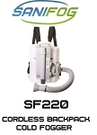 Sanifog SF220 Cordless Disinfectant Sanitizing Backpack Cold Fogger