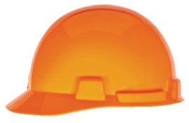 MSA 10074070 SmoothDome Protective Cap, Orange, 4-Point Fas-Trac III